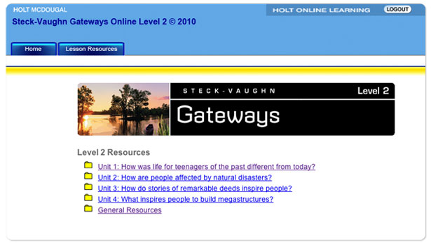 Gateways Lesson Resources