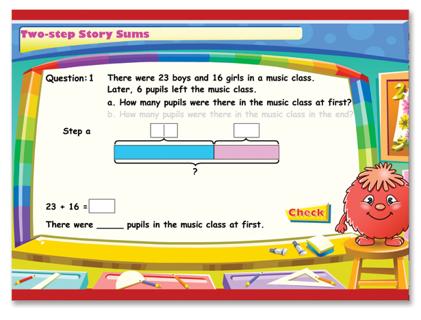 Math In Focus Grades K 8 Singapore Curriculum. Twostep Story Sums. Worksheet. Math Worksheet Online At Clickcart.co