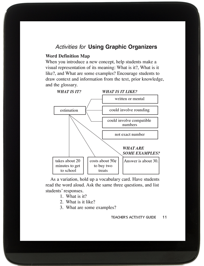 Go math elementary and middle school math curriculums vocabulary activities teacher guide fandeluxe Choice Image