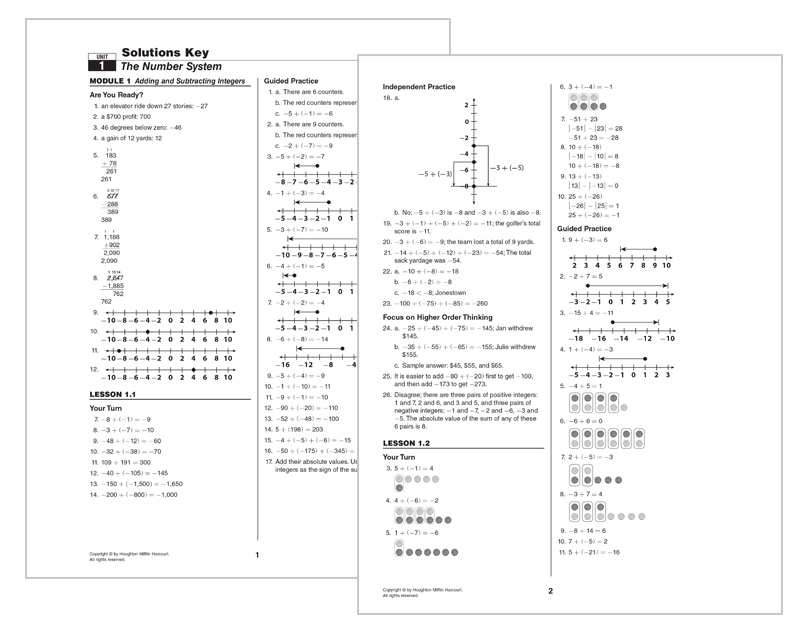 Go Math Elementary And Middle School Curriculums. Solutions Key. Worksheet. 12th Grade Math Worksheets At Clickcart.co