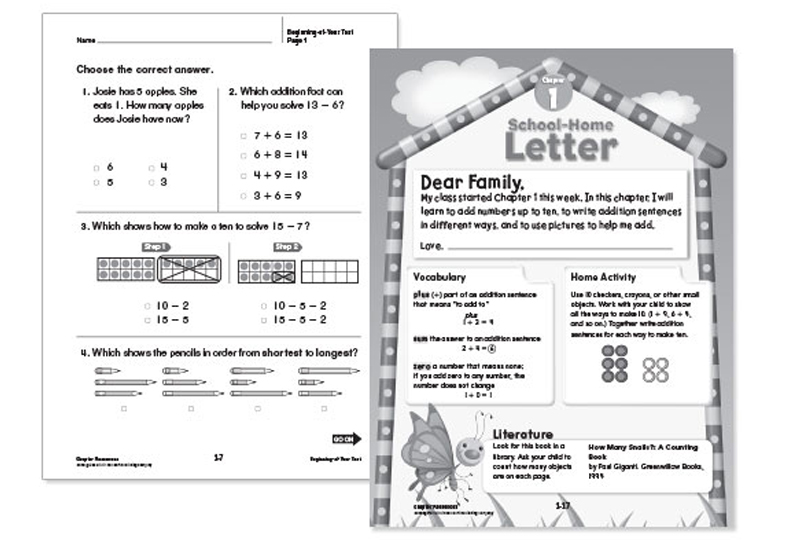Go math elementary and middle school math curriculums chapter resource booklets fandeluxe Image collections