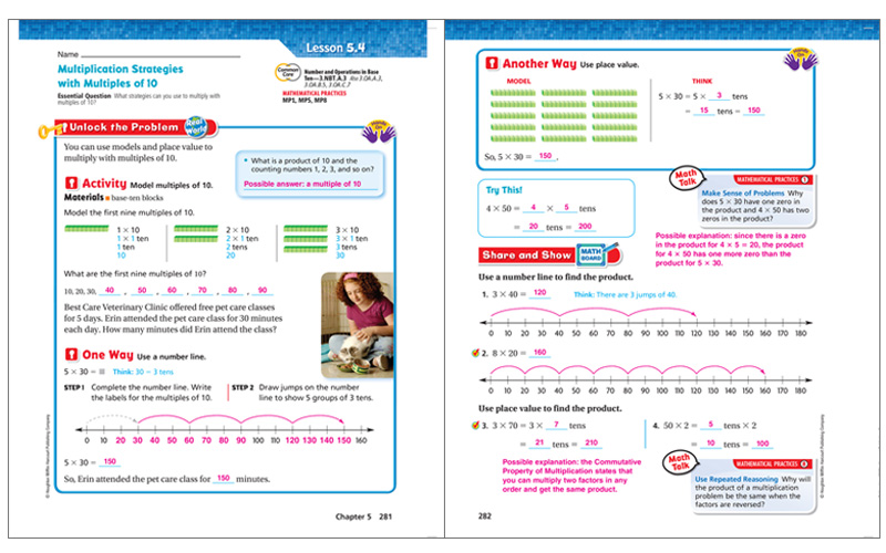 Go math elementary and middle school math curriculums vocabulary and writing activities each chapter of go fandeluxe Image collections